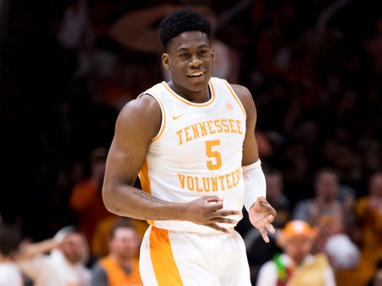 Tennessee guard Admiral Schofield entered the NBA Draft after his junior season but returned to the Vols for his senior year.