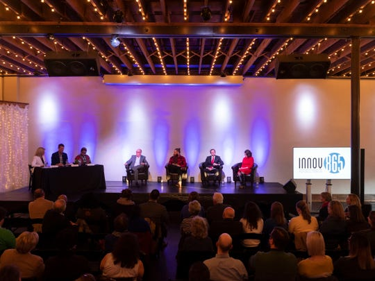 The Innov865 Alliance hosts a mayoral candidate forum with Eddie Mannis, Fletcher Burkhardt, Marshall Stair, and Indya Kincannon  at Relix on Tuesday, March 5, 2019.