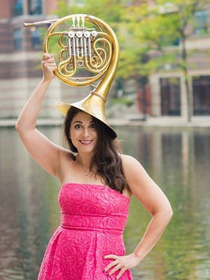 Photo of Sharon Weyser for Lafayette Symphony Orchestra B-Sides: Helden Horns event, March 7
