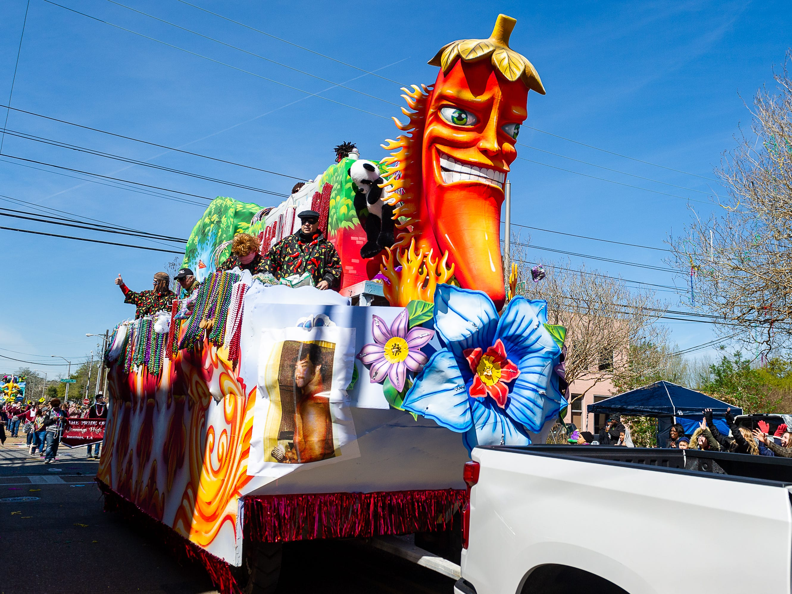 King Gabriel Parade rolling through Lafayette. Tuesday, March 5, 2019.