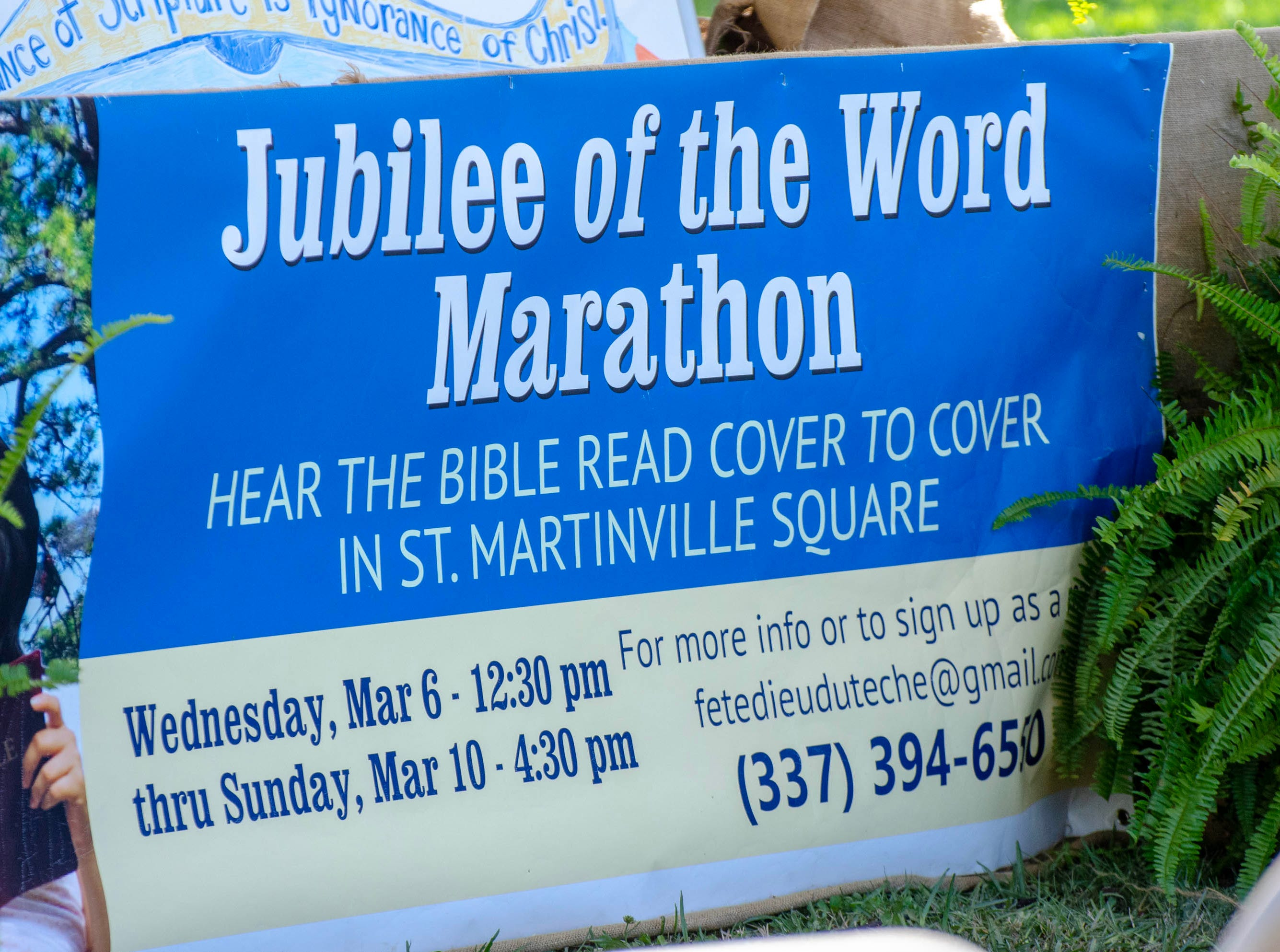 Diocese of Lafayette Annual Jubilee of the Word Marathon.