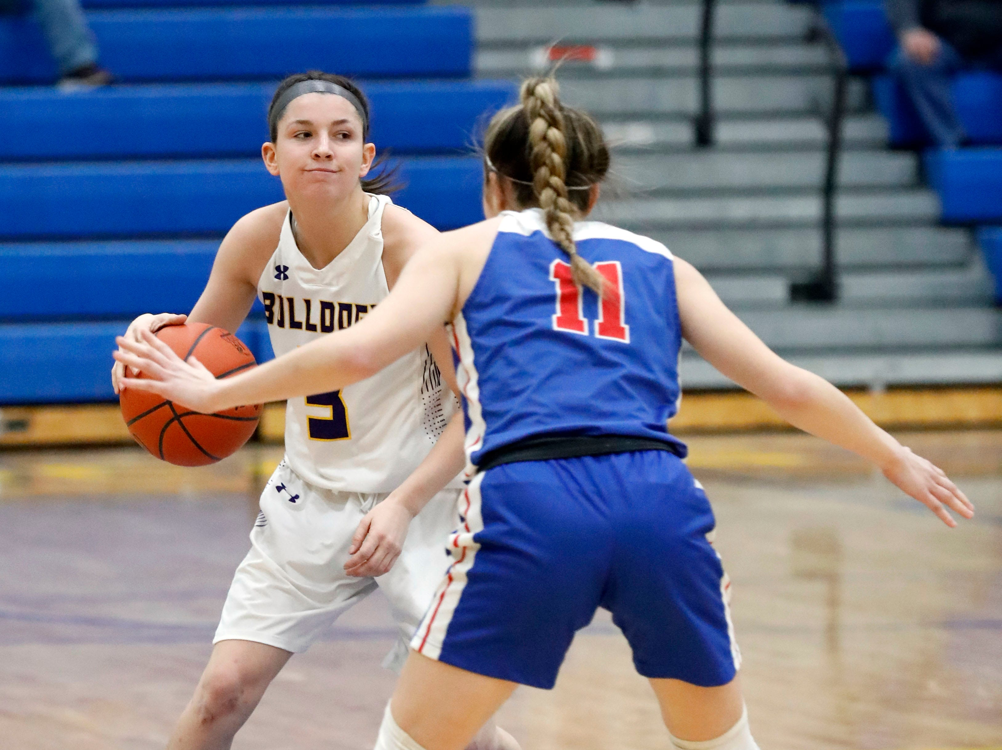 Bloom-Carroll lost to Carroll 46-30 Tuesday night, March 5, 2019, at Springfield High School in Springfield.