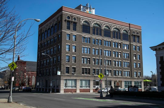 The old Pythian Temple at 10th and Chestnut is now a YMCA in Louisville.  March 6, 2019