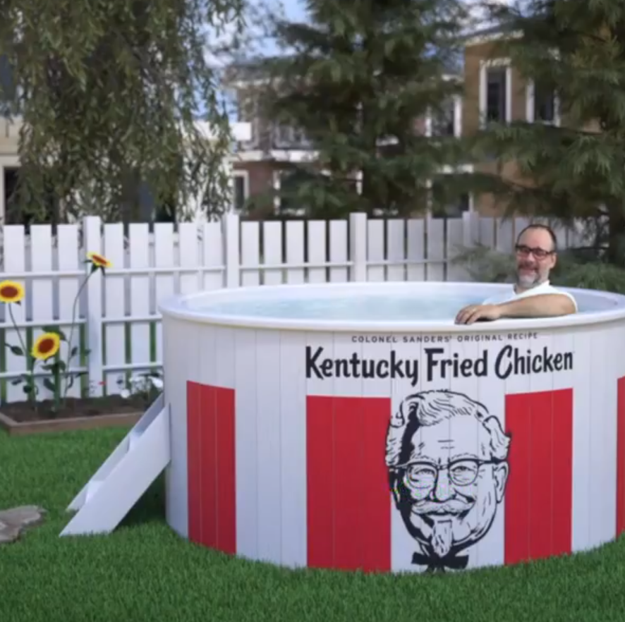 KFC looking to cook up a hot tub that looks like a bucket of fried chicken