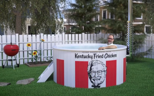 Kentucky Fried Chicken has launched an Indiegogo.com campaign to fund three $13,000 hot tubs. Is this finger-licking fun?