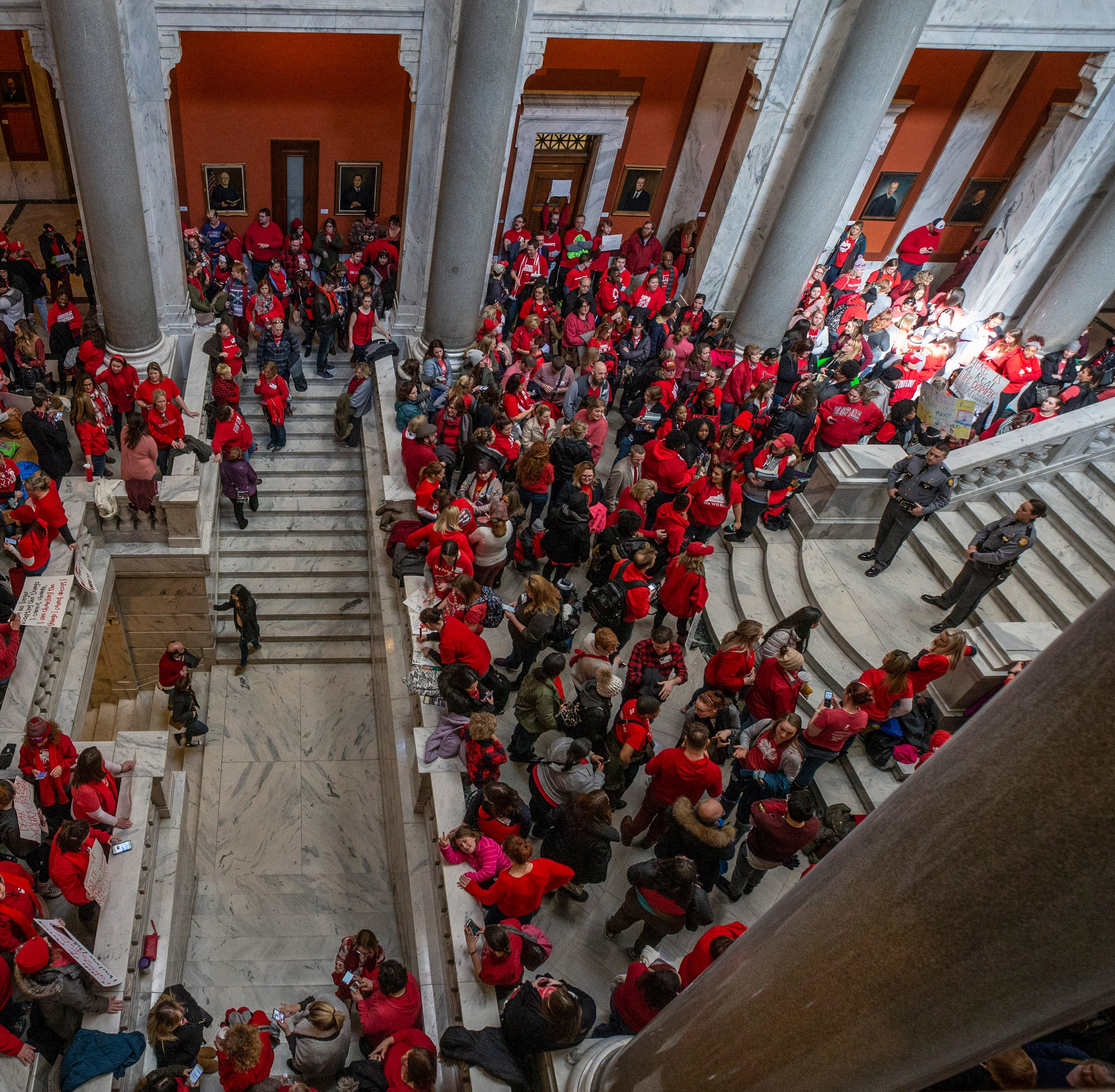 Lawmakers: Education bills that brought teachers to Frankfort, closed schools are dead