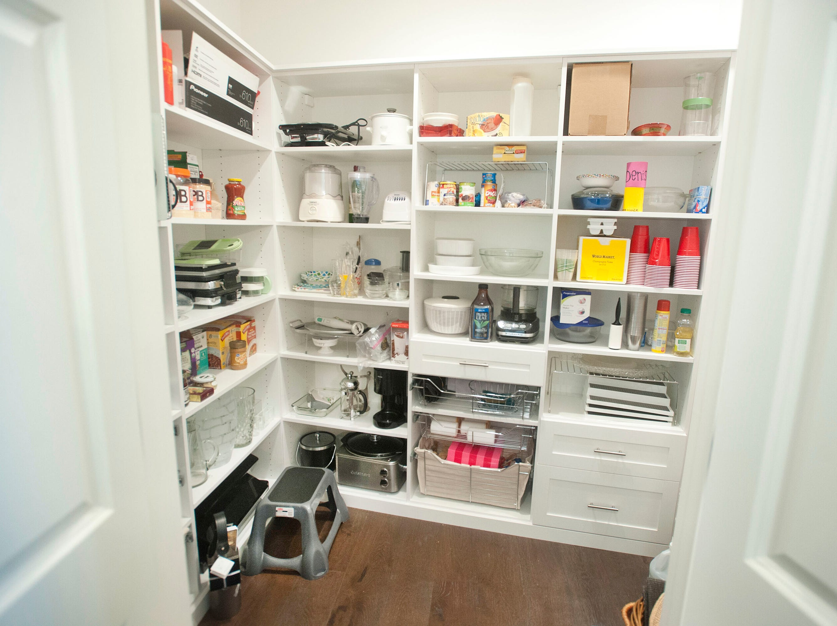 The kitchen pantry in the condominium of Denise Puthuff.