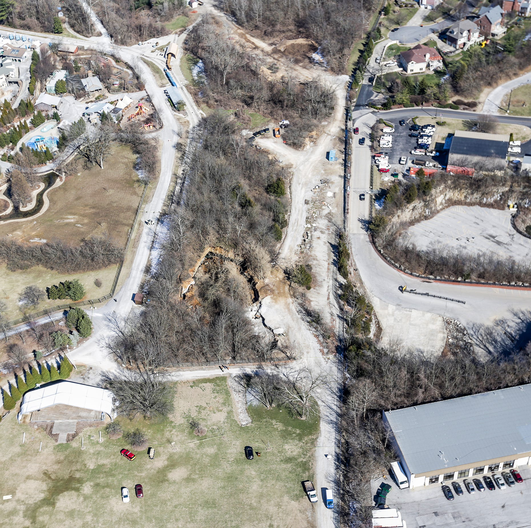 'It's an act of nature.' Massive sinkhole forms at Louisville Zoo
