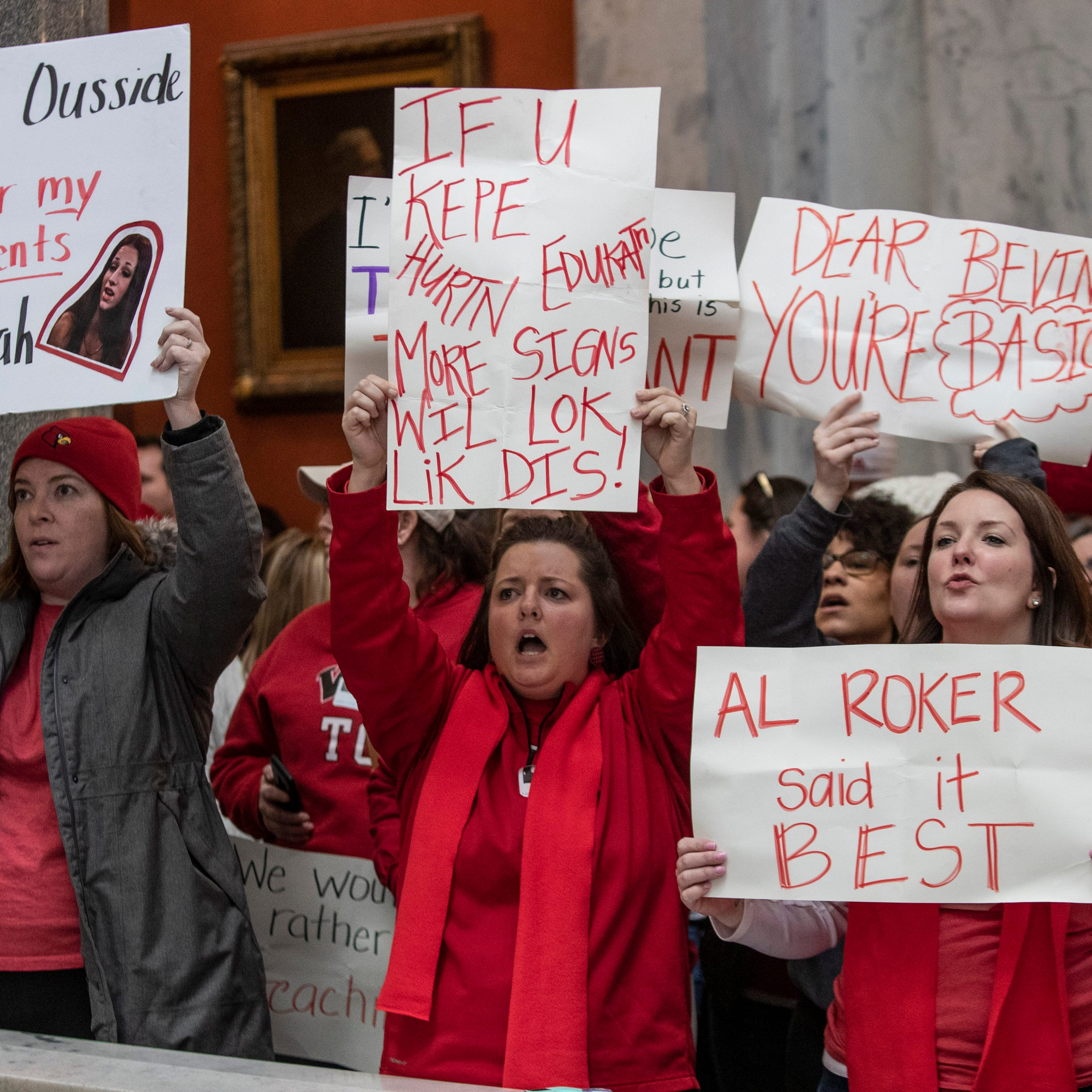 Key players in the Kentucky teacher sickout movement