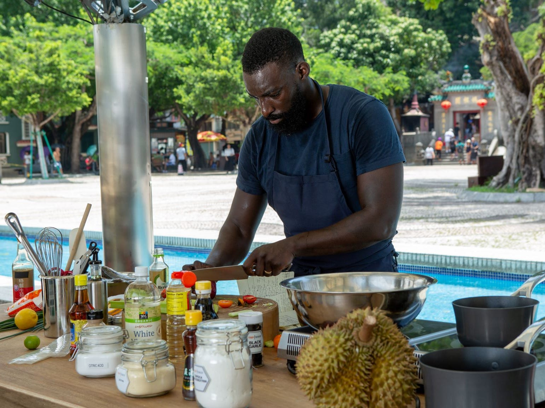 "Contestant Eric Adjepong on ""The Tao of Macau,"" episode 14 of Bravo's 'Top Chef:' Kentucky season."