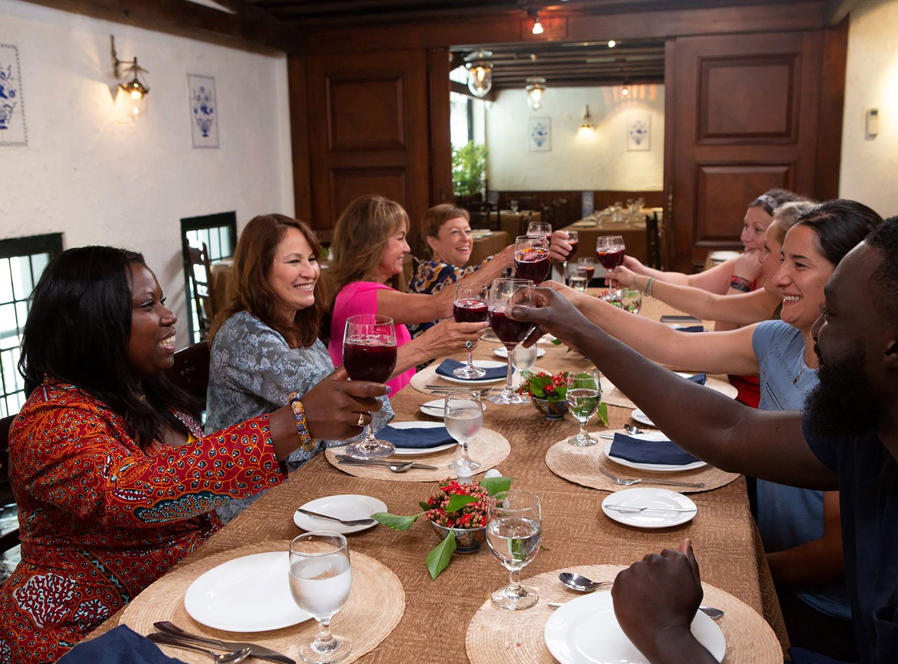 """Top Chef contestants toast their family on """"The Tao of Macau,"""" episode 14 of Bravo's 'Top Chef:' Kentucky season."""