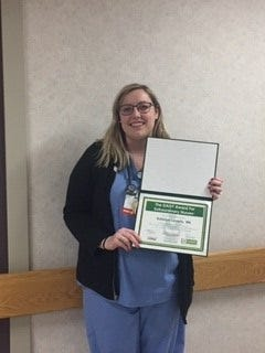 DAISY Award for Extraordinary Nurses honors Katelyn Laverty.