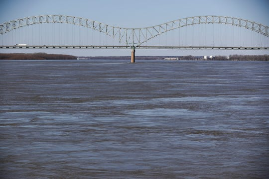 March 05, 2019 - A view of the Hernando de Soto Bridge during a Memphis Riverboats sightseeing cruise on Tuesday.