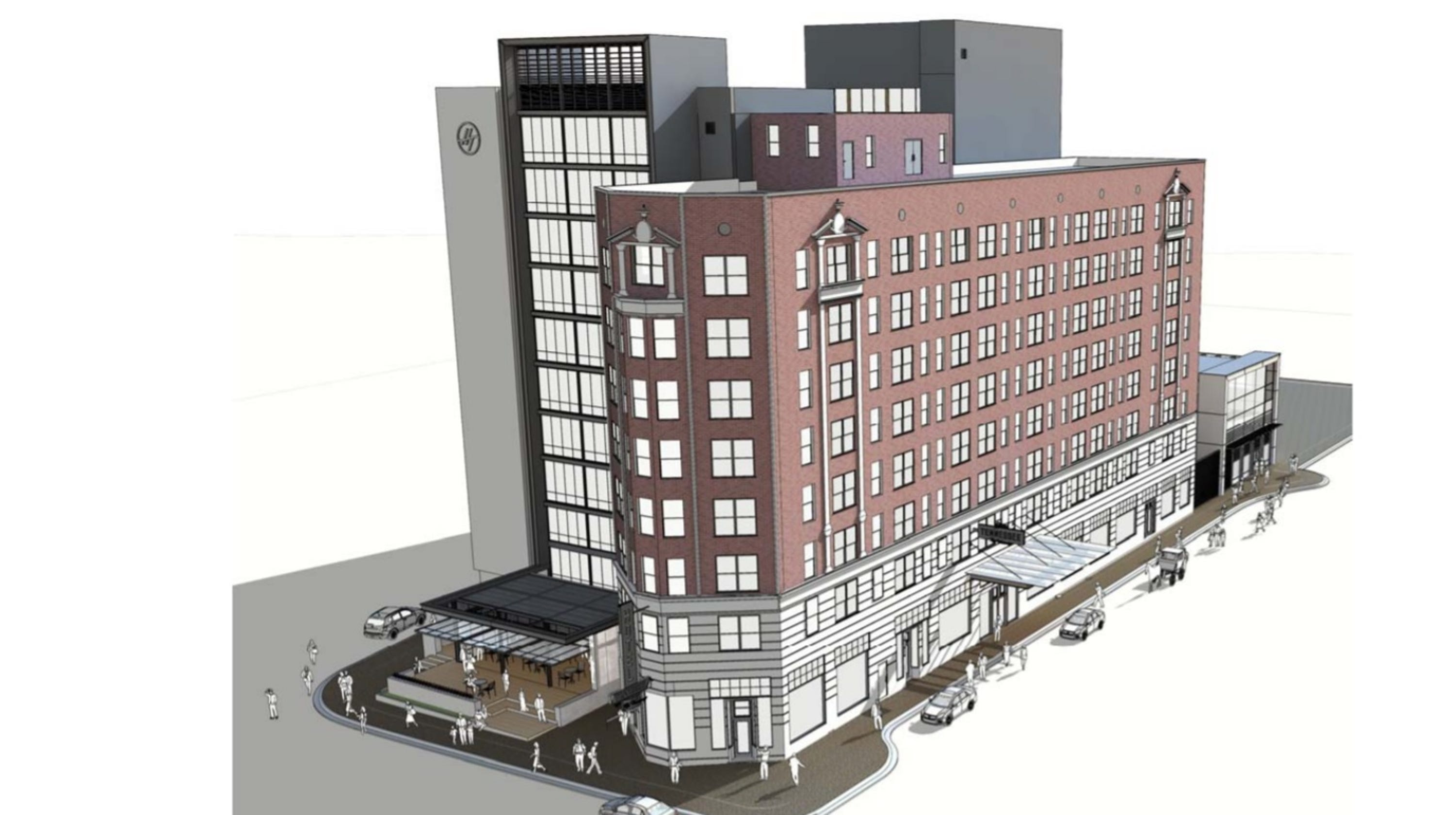 downtown memphis doubletree owners plan 47m remodel. Black Bedroom Furniture Sets. Home Design Ideas