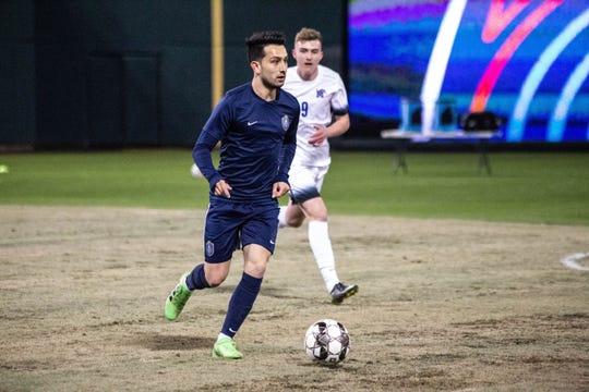 Memphis 901 FC Adam Najem scored a goal in the final match of the preseason against the University of Memphis at AutoZone Park.