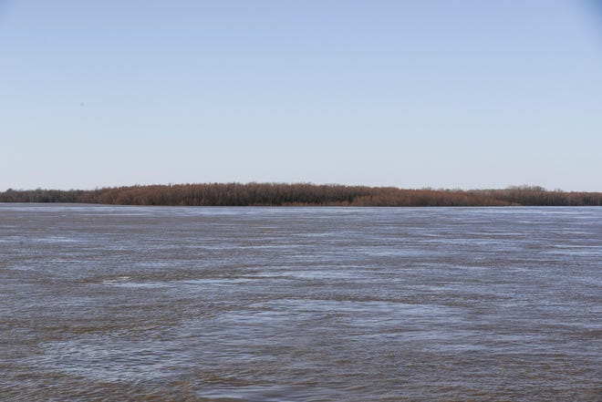 March 05, 2019 - A view west from Memphis is seen during a Memphis Riverboats sightseeing cruise on Tuesday.