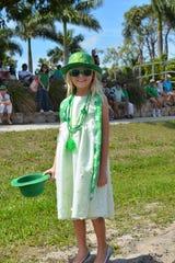 Emma Pratus enjoys the parade.