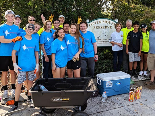The Sunrise Rotary Club of Marco Island recently shared a Saturday morning with Interact students from Marco Island Academy working to maintain and protect Otter Mound Preserve.