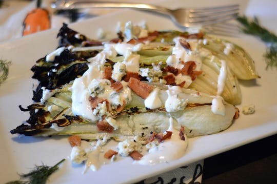 Grilled napa cabbage puts a fresh spin on the classic wedge salad.