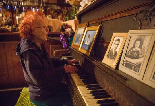 "A highlight of the trip to Jump River was meeting Cinderella ""Cindy"" Piotrowski, who at age 94 still runs a bar and entertains customers by singing, yodeling and playing the piano and six-sided harmonica."