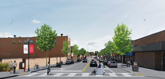 A rendering shows streetscaping improvements on Milwaukee Avenue in South Milwaukee. Construction is expected to begin in August.