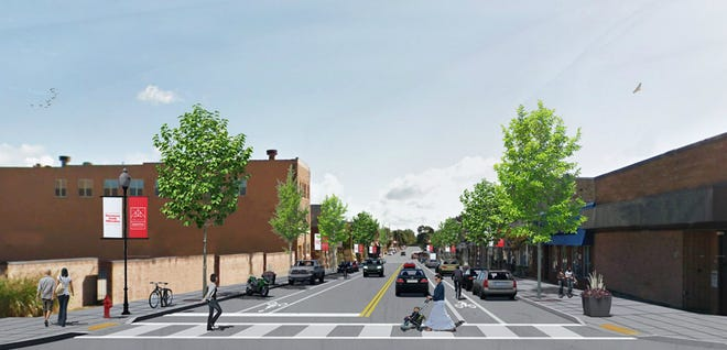 Here is a rendering of what the streetscaping improvements will look like when completed. Construction is expected to begin in August.