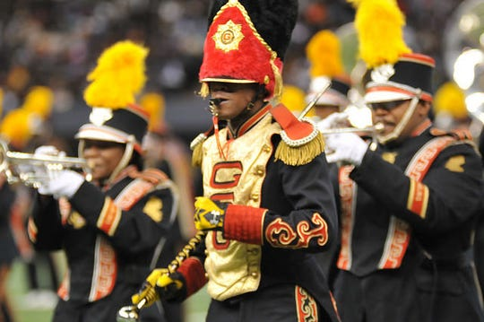 """Known as the """"Best Band in the Land,"""" the 200-plus member world-famed Tiger Marching Band has been nationally celebrated since its founding, including performances at half-time during NFL Super Bowls I and II (1967 and 1968)."""