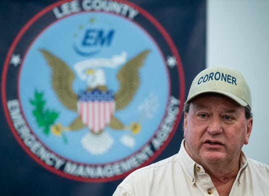 Lee County Coroner Bill Harris speaks at a press conference updating tornado information in Beauregard, Ala., on Wednesday March 6, 2019. A fatal tornado struck Beauregard on Sunday afternoon.