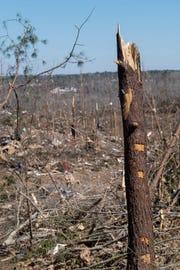 Tornado damage in Beauregard, Ala., on Wednesday March 6, 2019. A fatal tornado struck Beauregard on Sunday afternoon.