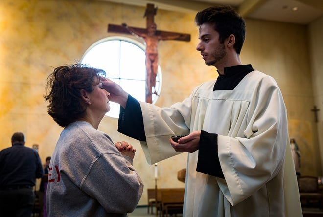 The St. Francis Catholic Church held its Ash Wednesday service led by Pastor Fr. Brian Doerr. Ash Wednesday marks the first day of Lent, a time of reflection and penitence leading up to Easter Sunday.