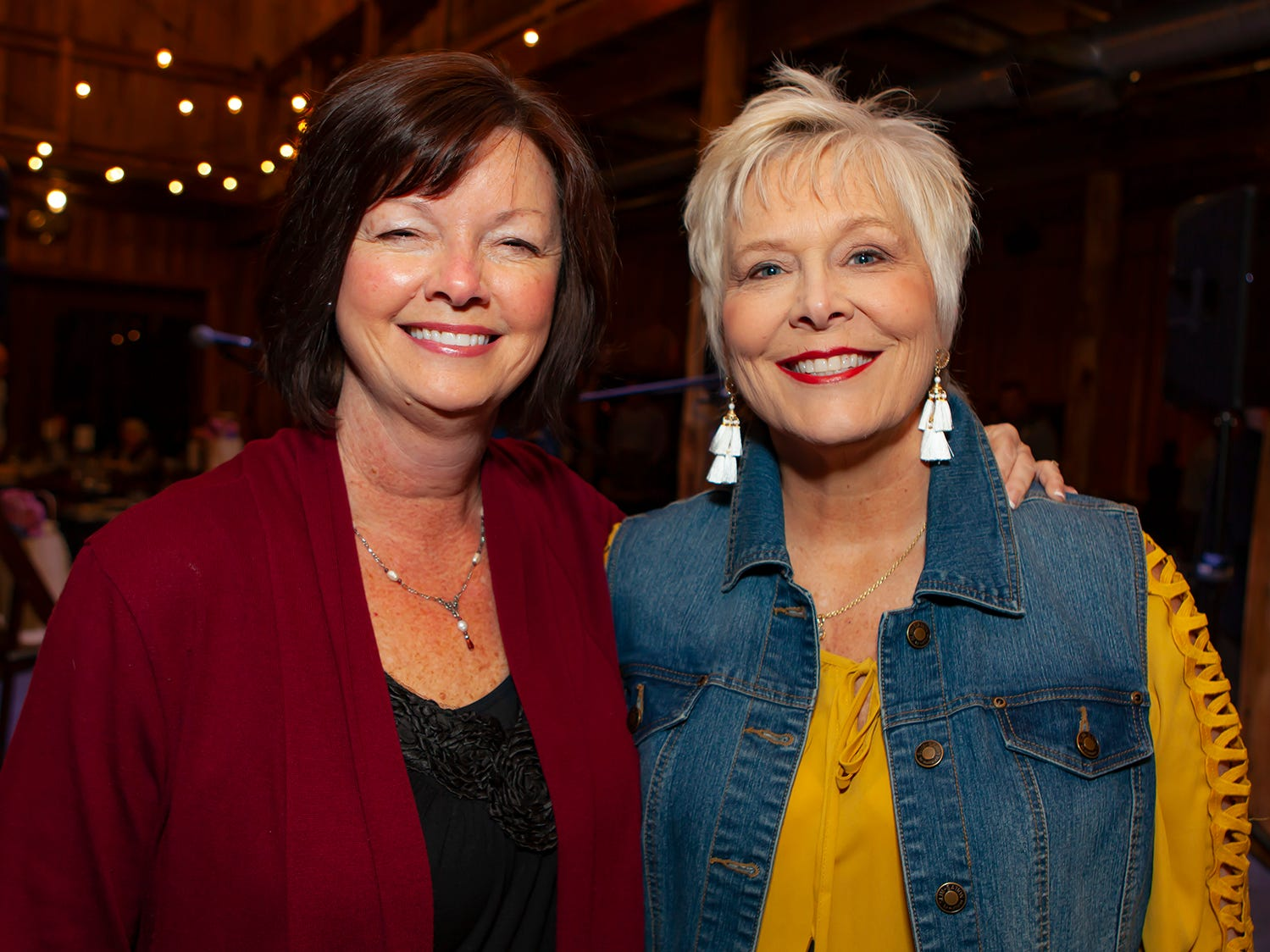 Barbara Long and Cheri Jobe at the second night of Bluebird in the Boro, held March 4-6, 2019. A benefit for Alive Hospice, the event was held at The Grove at Williamson Place in Murfreesboro.