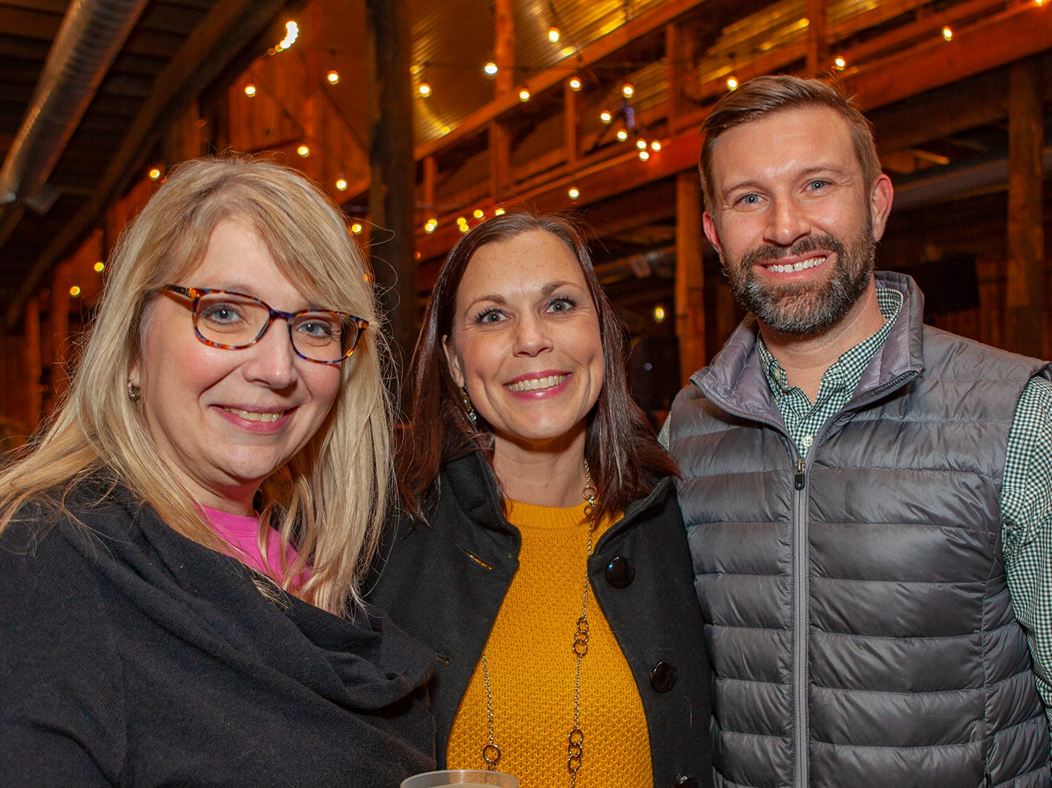 Leslie Baker, Dana Womack and Ryan Maloney at the second night of Bluebird in the Boro, held March 4-6, 2019. A benefit for Alive Hospice, the event was held at The Grove at Williamson Place in Murfreesboro.