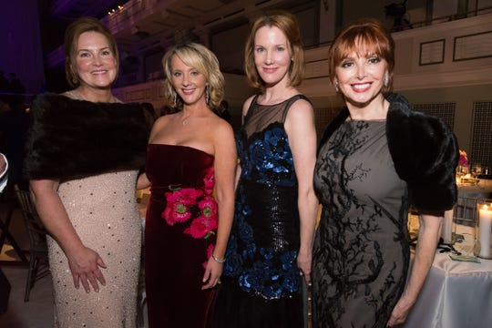 Laurie Seabury, left, Emily Humphreys, Tyler Moody and Sandra Lipman attend the 30th anniversary Ballet Ball at Schermerhorn Symphony Center.
