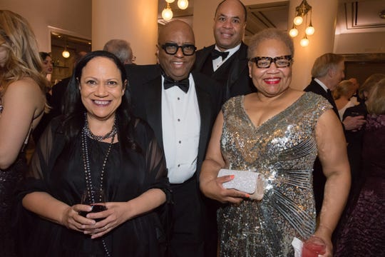 Alice Randall, left, Michael Nettles, David Ewing and Arie Nettles attend the 30th anniversary Ballet Ball at Schermerhorn Symphony Center.
