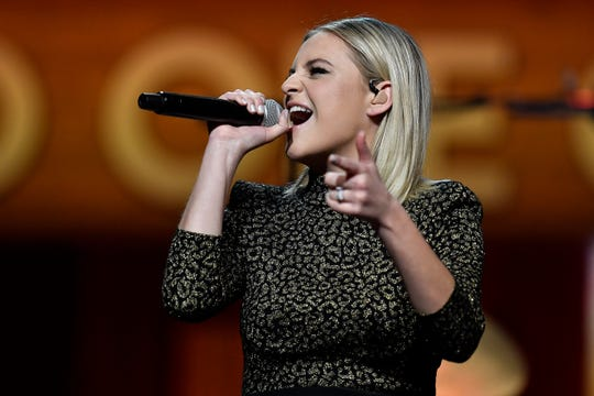 Kelsea Ballerini performs at the Grand Ole Opry on March 5 in Nashville.
