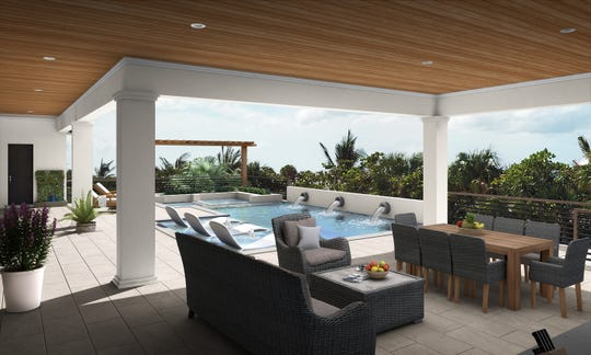 Ruta Menaghlazi created the interior design for the furnished Captiva model .