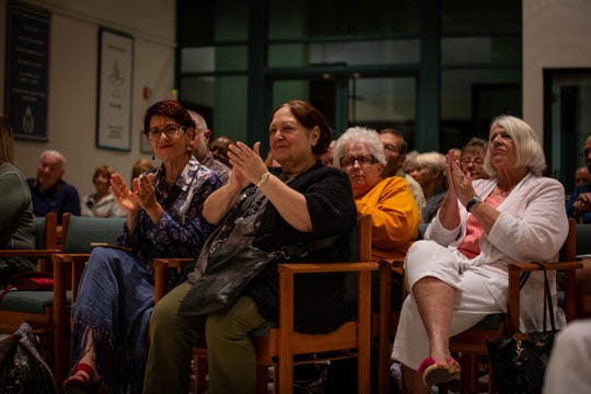 Many commuity members gathered for a criminal justice reform forum held at the Unitarian Universalist Congregation of Greater Naples in Naples on March 5, 2019