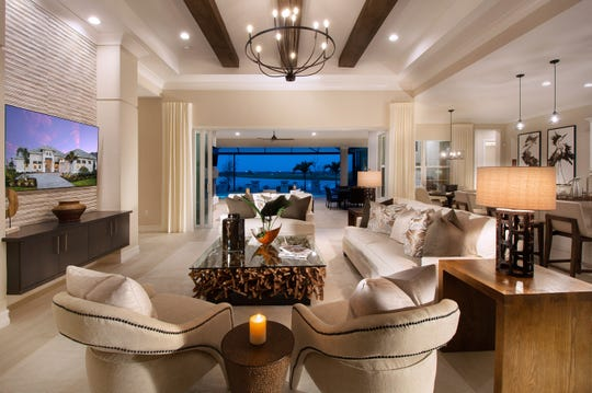 Vogue Interiors has completed the interior design for Livia model at the Lake Club in Lakewood Ranch.