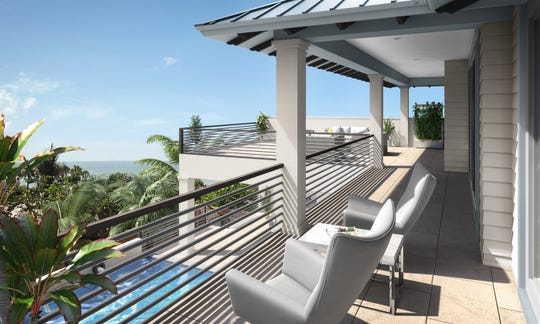 Seagate's furnished Captiva model is under construction at Hill Tide Estates on Boca Grande.