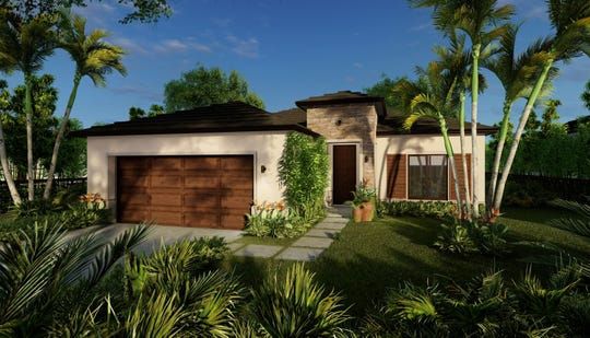 The Lincoln model is one of three models from the American Dream collection at Maple Ridge in Ave Maria.