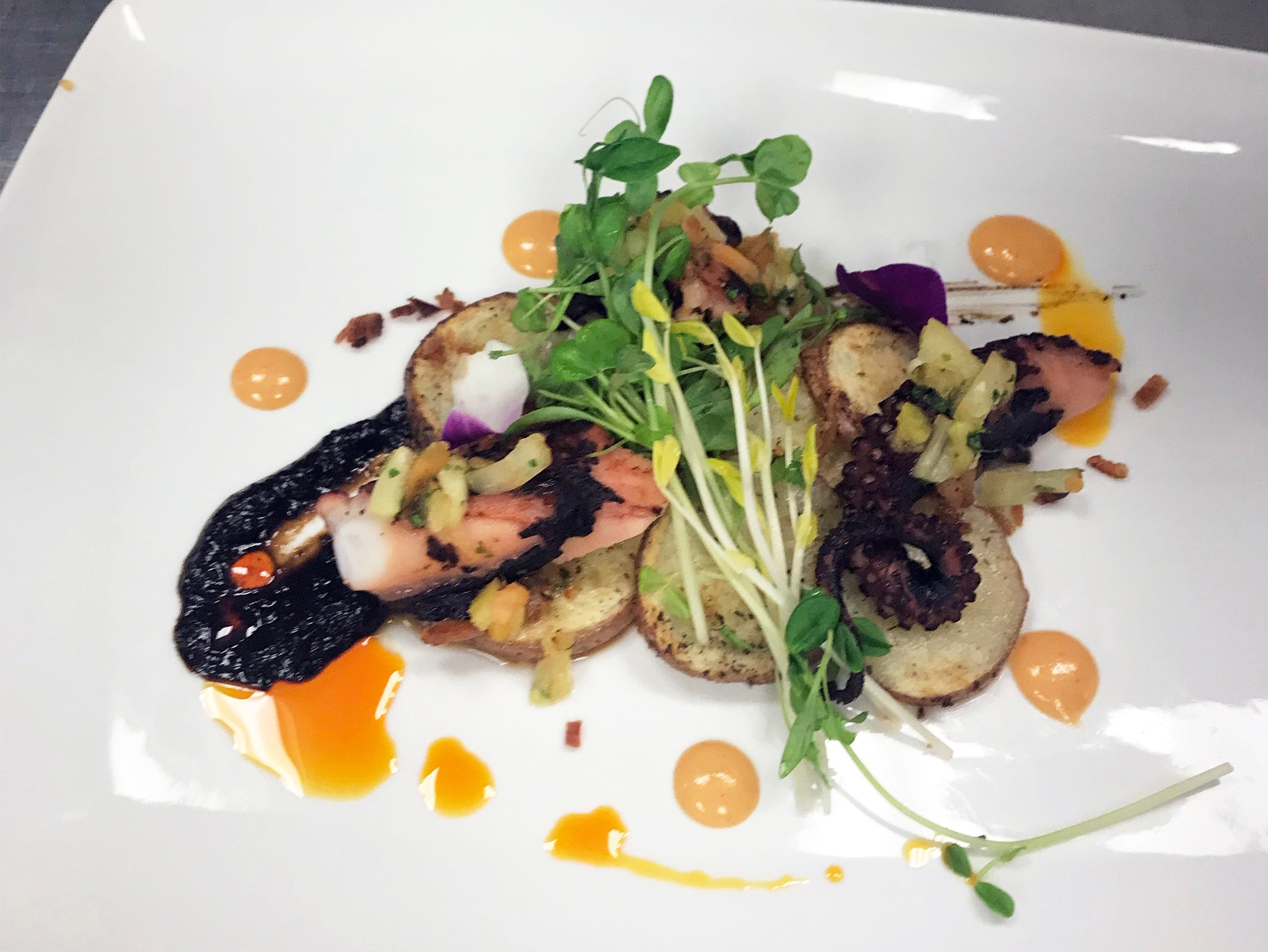 A squid dish special at the new Crooked Shillelagh Celtic Kitchen + Drinkery, 3340 U.S. 41 E., in East Naples.
