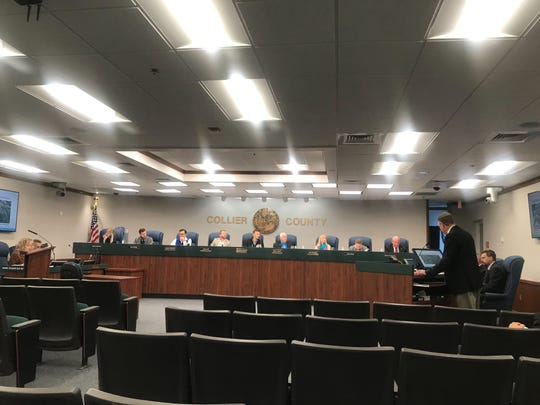 Collier County's new infrastructure surtax citizen oversight committee meets Wednesday, March 6, 2019, at the Collier County commission chamber to discuss projects that will be funded through a recently passed sales tax increase.