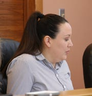 Eddy County Finance Director Roberta Smith speaks to the Eddy County Board of Commissioners March 5.