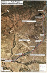 A map provided by the San Juan Water Commission shows the proposed pipeline from Lake Nighthorse.
