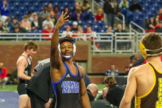 Catholic Central's Kevon Davenport won his fourth state title, making history.