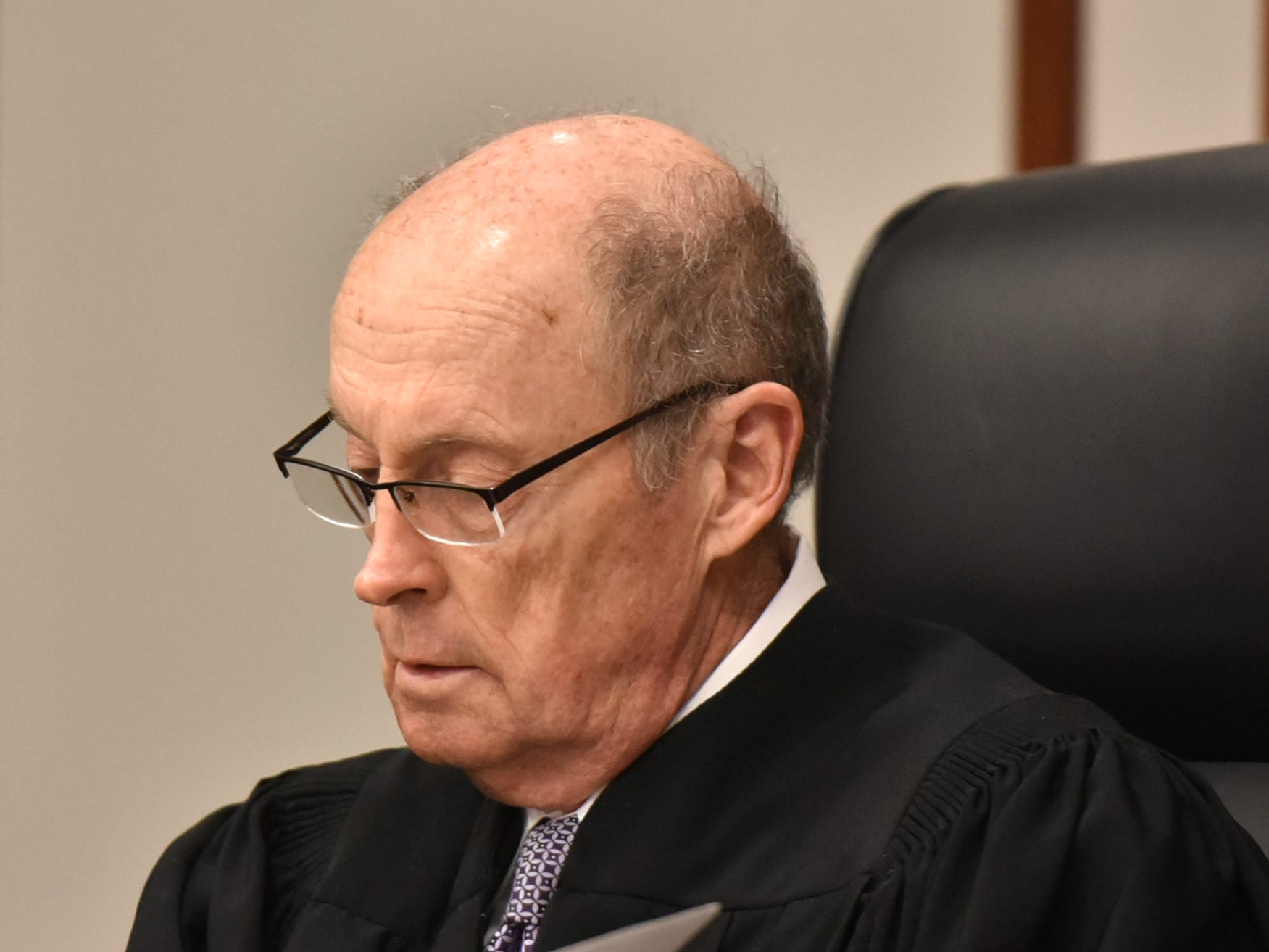 Judge James B. Brady presided over the video arraignment of Floyd Galloway on March 6 at Farmington Hill's 47th District Court.
