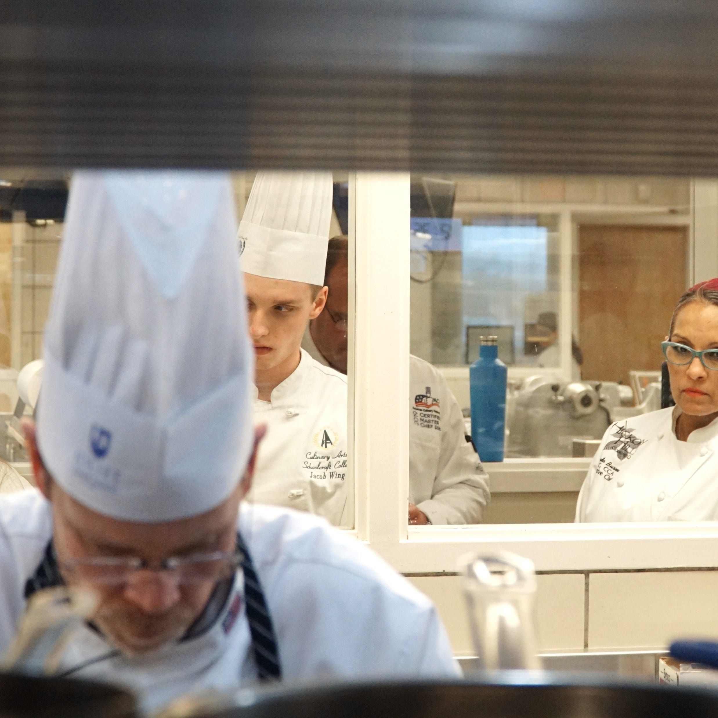 Take a peek inside the kitchen for the Certified Master Chef exam at Schoolcraft College