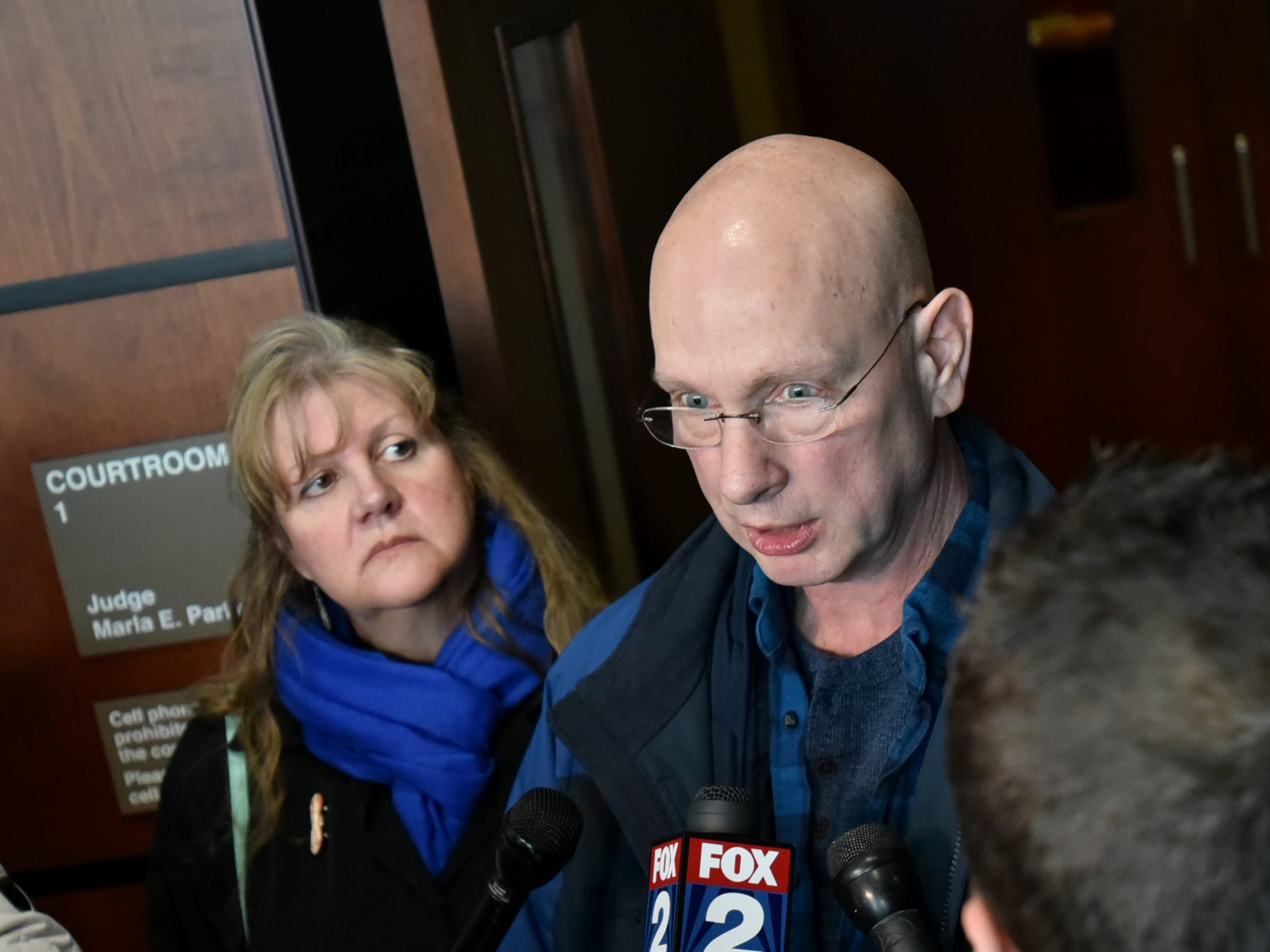 Richard Stislicki and his wife Ann spoke to the media after Floyd Galloway Jr. was arraigned in the First Degree murder of their daughter Danielle Stislicki on March 6 at the 47th District Court in Farmington Hills.