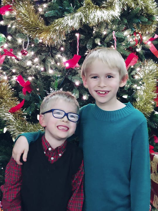 Eli Watson, 6, and Zeke Watson, 9, are brothers from Pinckney who have autism and are hoping to get a service dog with the help of Gifted Bakery and 4 Paws for Ability.