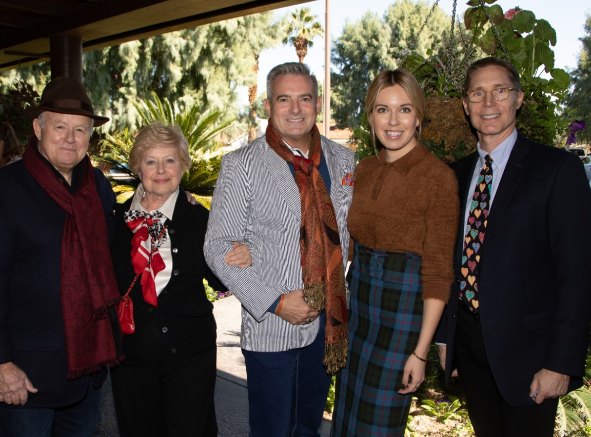 (left to right) Event hosts Steve and Yvonne Maloney, co-chair Patrick Mundt, co-chair Tristan Milanovich, and Executive Director of Guide Dogs of the Desert Ben Schirmer.